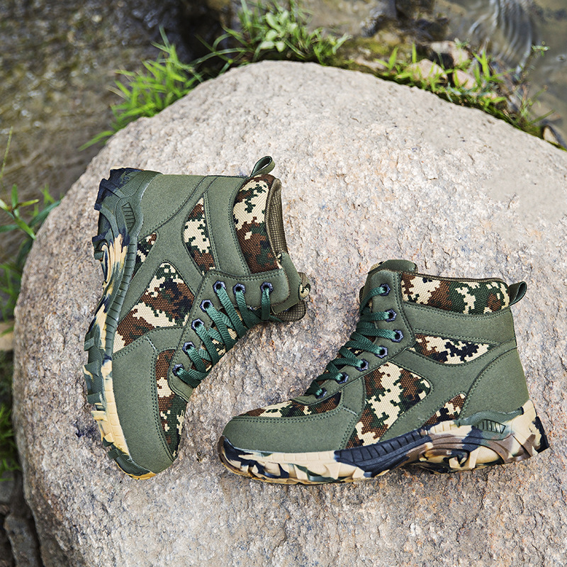 Hot Sales 2019 Winter MEN'S SHOES Large Size Hight-top Outdoor Mountain Climbing Combat Boots Tactical Boots Waterproof Canvas C