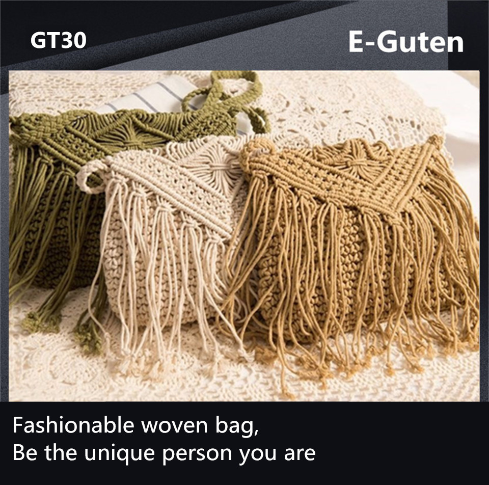 Handmade Woven Straw Beach Bags