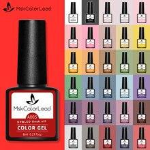 Msk − vernis à ongles, LED, Gel de manucure, Semi-Permanent, UV LED, dans 60 couleurs, au four, pour Nail Art