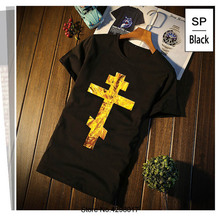 Design Russian Orthodox Cross Gold Jesus Christ Icon Glow T-Shirt Quirky Loose T Shirt For Men Male O Neck Camisas Cool Top Tee jackall dartrun yonesty o glow