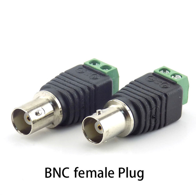 bnc connector DC BNC Male female Connector Coax CAT5 Video Balun Adapter Plug for Led Strip Lights CCTV Camera Accessories