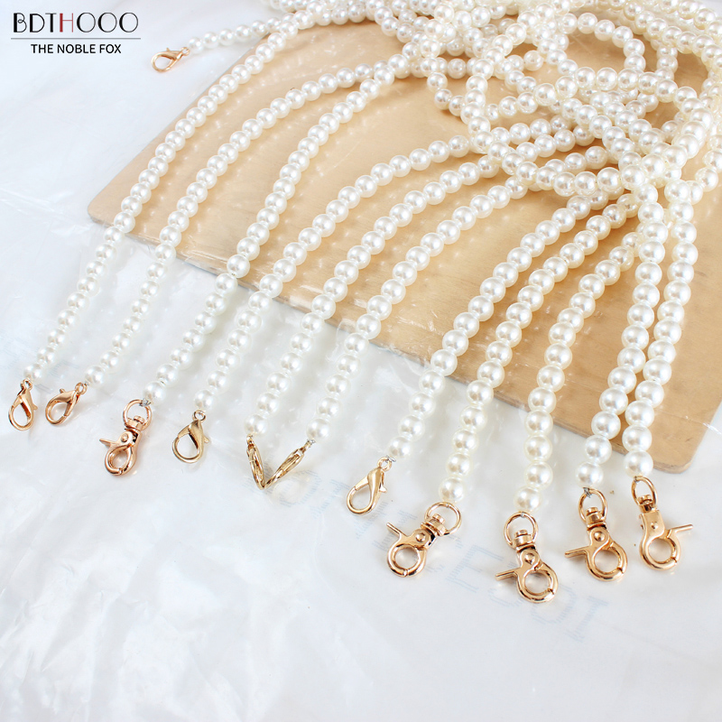 60cm 120cm Portable Imitate Pearl Bag Strap Belt Handles Chain Women Handbag Shoulder Bag Strap Replacement Long Bag Accessories