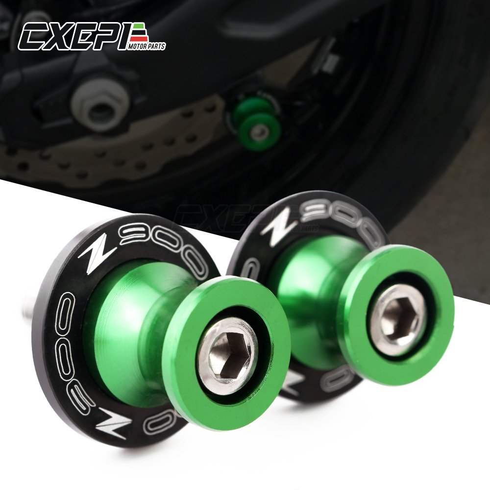 For <font><b>kawasaki</b></font> Z900 <font><b>Z</b></font> <font><b>900</b></font> Z650 <font><b>Z</b></font> 650 2017 2018 2019 8MM <font><b>Motorcycle</b></font> accessories CNC Swingarm Spools slider stand screws image