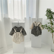 Outono roupas de bebê pouco abóbora bebê bodysuits e blusa 2 pçs infantil meninas meninos conjunto