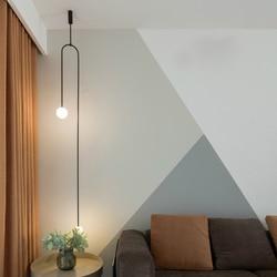 Linia żyrandol nowoczesna zwięzła restauracja recepcja oryginalność dekoracja osobowość dekoracja artystyczna lampy i latarnie w Wiszące lampki od Lampy i oświetlenie na