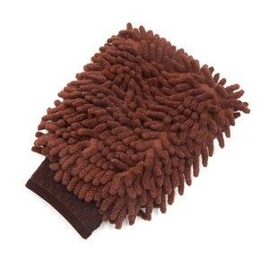 Image 3 - UXCELL Microfiber Chenille Wash Mitt Mitten Home Kitchen Car Vehicle Dust Cleaning Glove Brown
