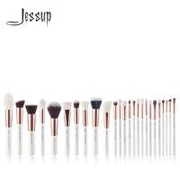 Jessup Pearl White/Rose Gold Professional Makeup Brushes brushes Make up Brush Tools kit Foundation set Powder Blushes Beauty