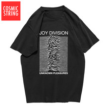 CADEIA CÓSMICA 100% algodão de verão dos homens T-shirt Joy Division Unknown Pleasure T-shirt do punk LEGAL rocha hipster t camisa tee camisas(China)