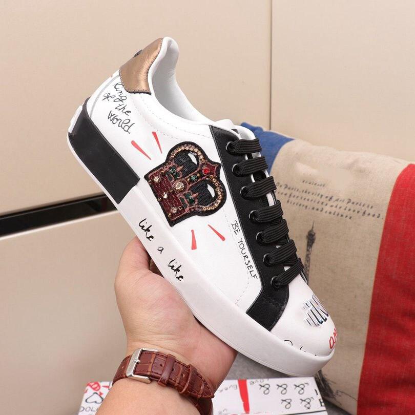 2020 Luxury Couple Men Shoes Women's Shoes Graffiti Sports Shoes Vulcanized Shoes Flat Shoes Net Shoes Sneakers Zapatos Hombre