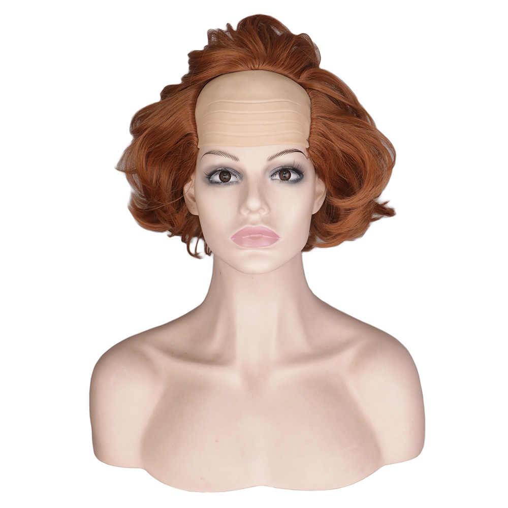 Qqxcaiw Pendek Wig IT Bab Dua 2 Horor Cosplay Kostum Halloween Tahan Panas Wig Rambut Sintetis