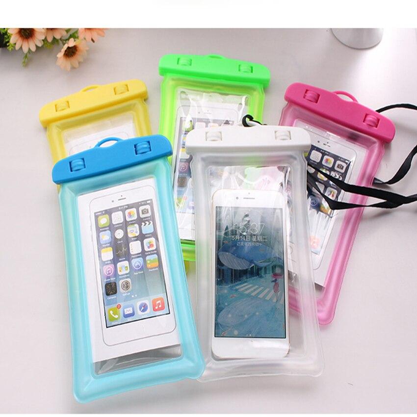 1pcs Universal Waterproof Phone Case Dry Bag Underwater Case  Mobile phone storage Bag For hot springs,swimming,boating