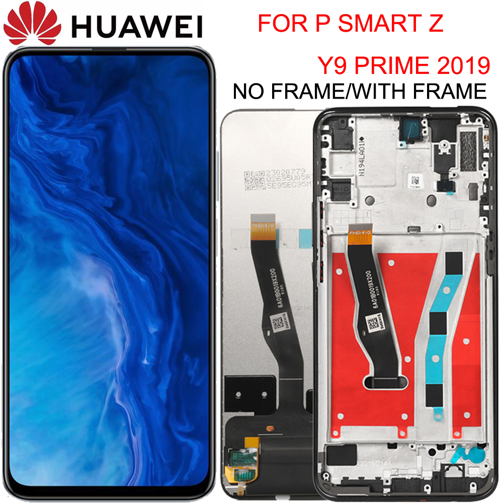 Original 6.59 Inch For Huawei Y9 Prime 2019/P Smart Z LCD Display STK-LX1 Touch Screen Digitizer Assembly Parts Honor 9X