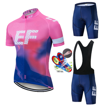 2020 Summer EF TEAM Cycling JERSEY Quick Dry Ropa Ciclismo Mens Bicycle Clothing GEL Breathable Pad Bib Short Sets Woman Men winter fleece team netherlands quick dry cycling jersey dutch flag breathable clothing mtb ropa ciclismo bicycle maillot gel