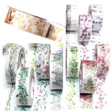 Masking Tapes Decorative Plant-Flowers Leaves Adhesive Stationary Office-Supply School