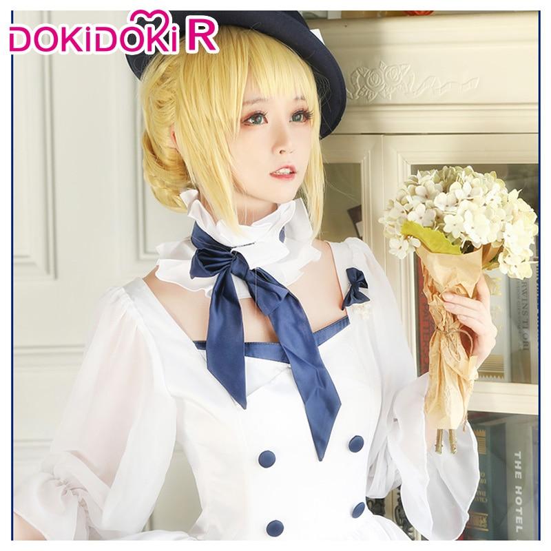 DokiDoki-R Game Fate/stay night Cosplay Arutoria Pendoragon Moon GirlFriend  Costume Women Dress Saber Cosplay Fate Costume 2