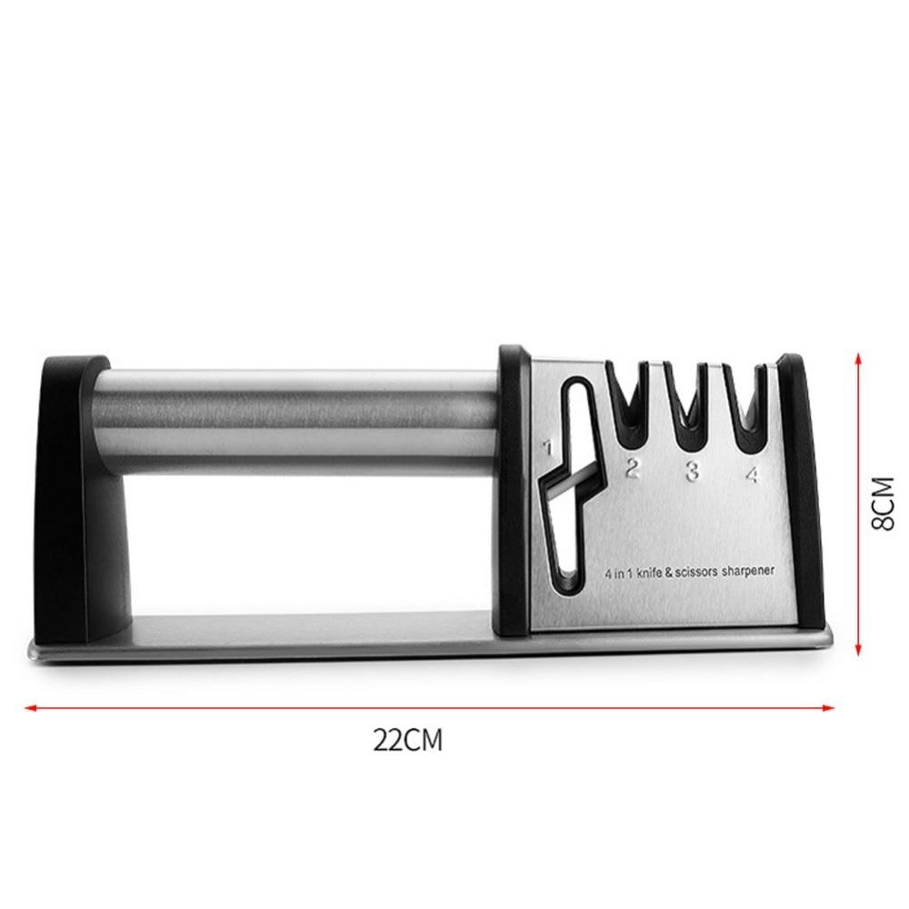 Afiadores de faca multifunções aço inoxidável para