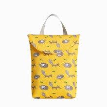 Ребенок подгузник органайзер многоразовый водонепроницаемый мода принты влажный% 2FDry сумка мумия хранение сумка путешествия подгузник сумка многофункциональный