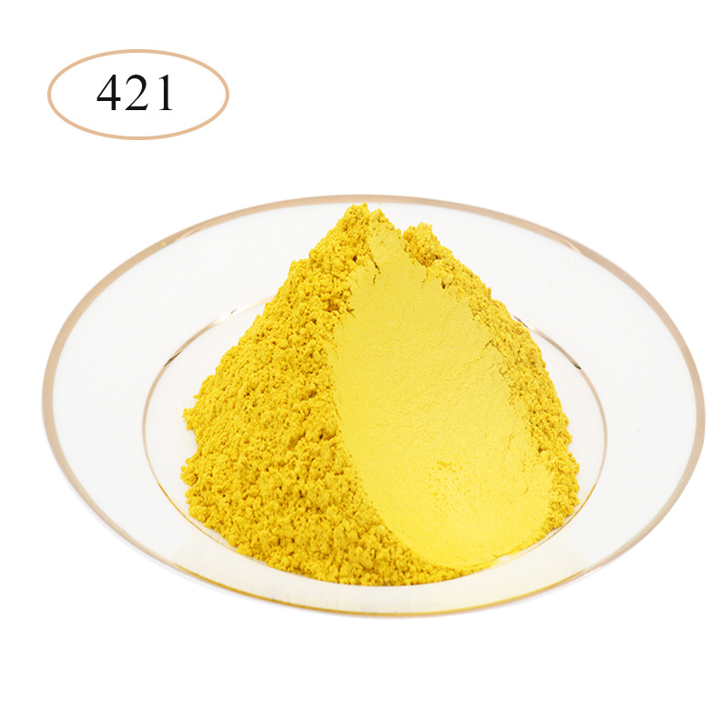 Bright Yellow Pearl Powder Pigments Mineral Mica Powder For Nail Polish Soap Making Car Arts Crafts 10g/50g Mica Pearl Powder