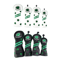 4pcs Golf Wood Head Cover Clover Club Headcover Protector Accessories NO. Tag