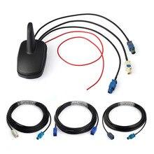 Superbat Auto Multi band Antenna Combinata DAB + GPS + FM Radio Amplificato Squalo Pinna Sul Tetto di Montaggio Fakra 5M di Cavo per Alpine Ezi DAB