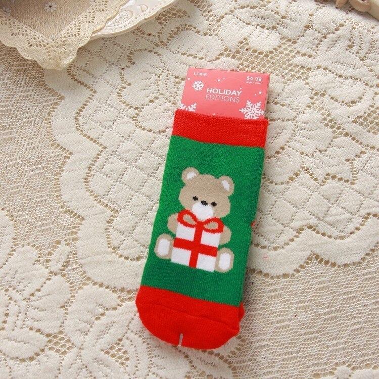 2021 Kids Socks Cute Christmas Sock Santa Deer Children Socks Newborn Meias Infantil Toddler Boys Girls Sock Xmas Kid Clothes 6
