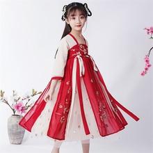 Hanfu Dress Traditional-Chinese-Costume Folk Fairy Dynasty Cosplay Dance Oriental Kids