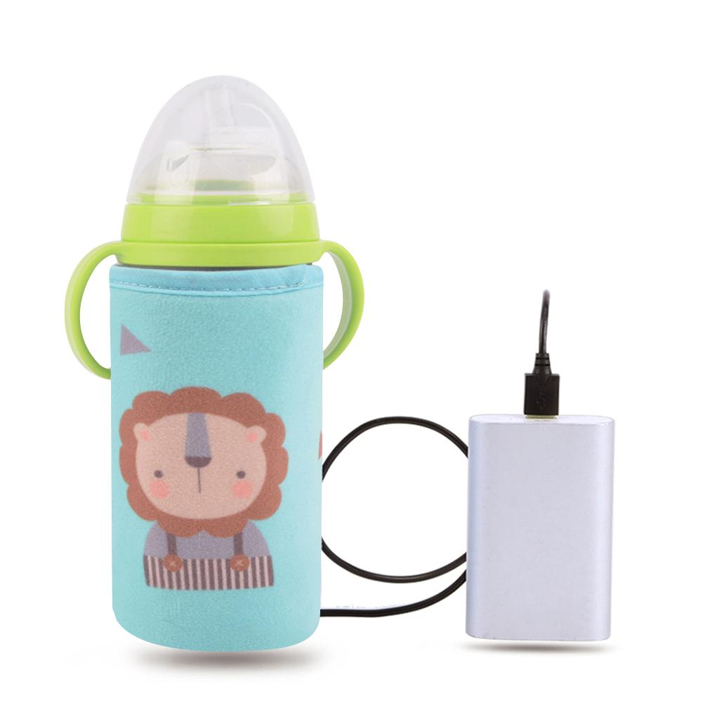 USB Baby Bottle Warmer Baby Bottle Thermostat Outdoor Portable Milk Heater Warmer Intelligent Bottle Warmer Tool