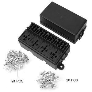 Image 5 - Fuse 12 Way Blade Fuse Holder Box with Spade Terminals 4Pin 12V 40A Relays for Auto Car Truck Trailer Plastic Cover