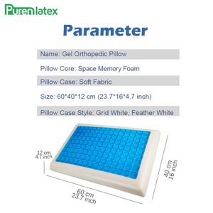 Image 3 - PurenLatex Silicone Gel Pillows Memory Foam Pillow Summer Ice Cooling Neck Ice Cool Cervical Vertebra Orthopedic Healing Cushion