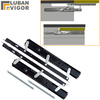 table slide lifting rail,Telescopic folding dining table Bracket rail,save space Easy to install,Furniture Hardware