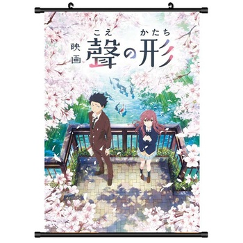 Anime Koe no Katachi A Silent Voice Ishida Shoya Wall Posters Home Decor Comic Exhibition Hanging Scroll Art Painting image