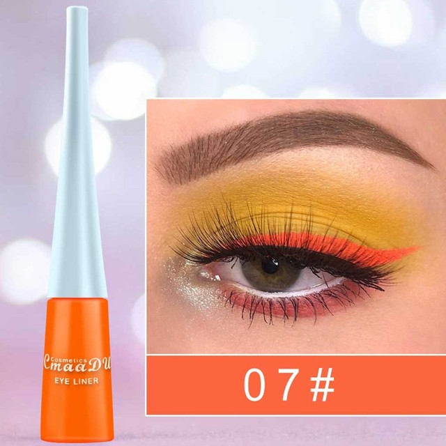 Colorful Matte Neon Eyeliner Pencil Super Waterproof Long Lasting Makeup Liquid Eye Liner Blue Green Yellow Eyes Cosmetics Pen 1