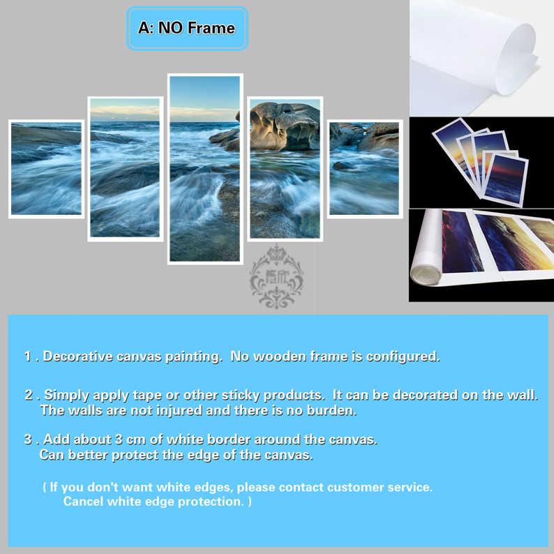 5 ชิ้นภาพวาดตกแต่งโปสเตอร์ใหม่แฟชั่นOffice HomeภาพจิตรกรรมฝาผนังSeascape Waveภูมิทัศน์ภาพวาดFanxinขายส่ง