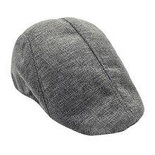 Мужские и wo мужские льняные береты весна/осень новые удобные дышащие Visiors чистый цвет кепки мужские шапки 58 см