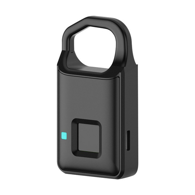 Big Promotion Fingerprint Lock USB Rechargeable Keyless Anti Theft Padlock Suitcase Door Lock Burglar Alarm Security Free Ship