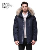 Blackleopardwolf 2019 winter jacket men fashion coat thik parka men alaska detachable outwear with comfortable cuffs BL 6605M