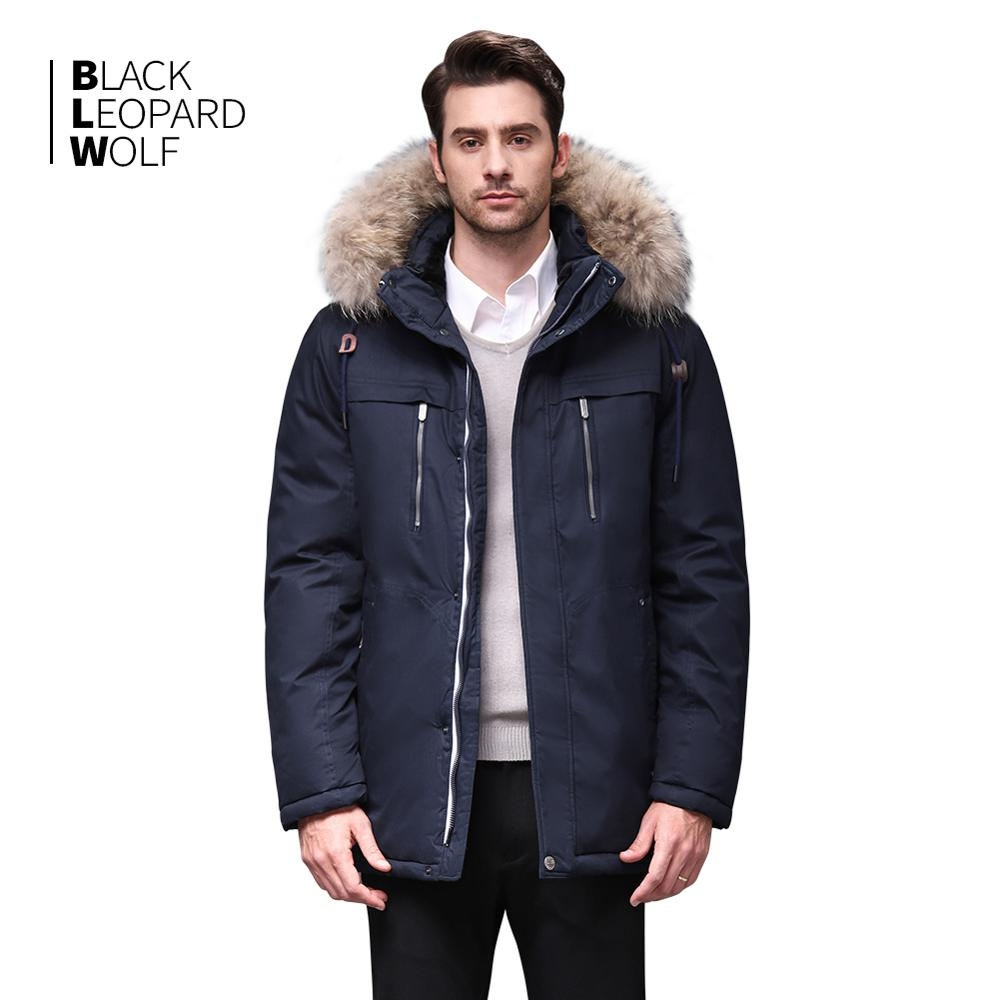 Blackleopardwolf 2019 Winter Jacket Men Fashion Coat Thik Parka Men Alaska Detachable Outwear With Comfortable Cuffs BL-6605M