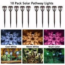 10 шт светодиодный солнечный Мощность светильники для садов