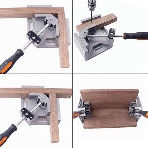 Image 2 - Alumínio único punho 90 graus ângulo direito braçadeira de ângulo braçadeira carpintaria quadro clipe ferramenta pasta ângulo direito