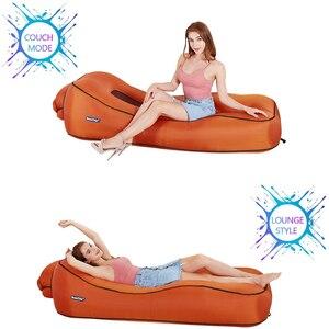 Image 5 - BEAUTRIP Air Lounger Inflatable โซฟา Lazy Sleeping เตียง Beach Hangout โซฟาที่นอนกันน้ำลอยน้ำ