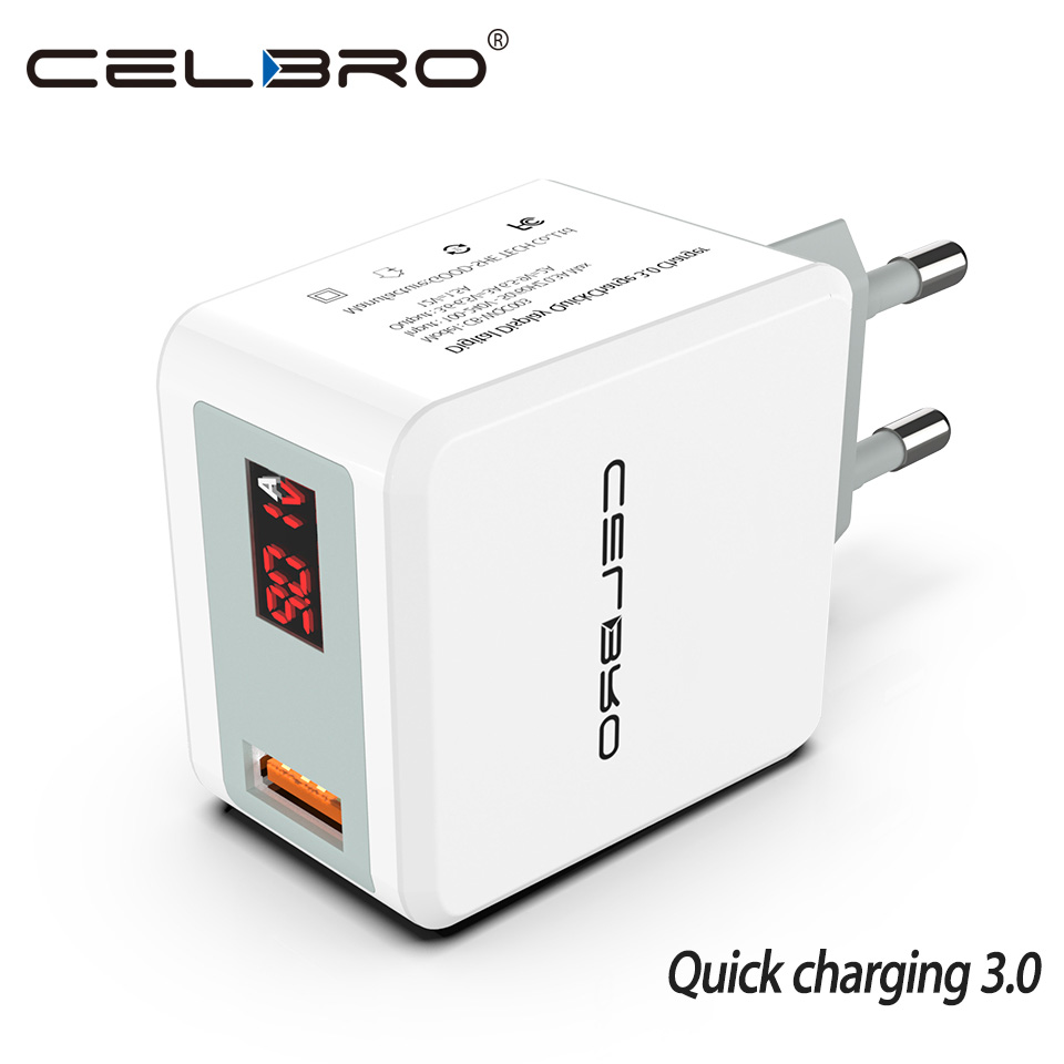 US $8.38 22% OFF|Quick Charge 3.0 USB Fast Charger QC 3.0 QC3.0 Wall Charger Adapter for Samsung Galaxy S9 Huawei FCP Xiaomi LG Mobile Phone