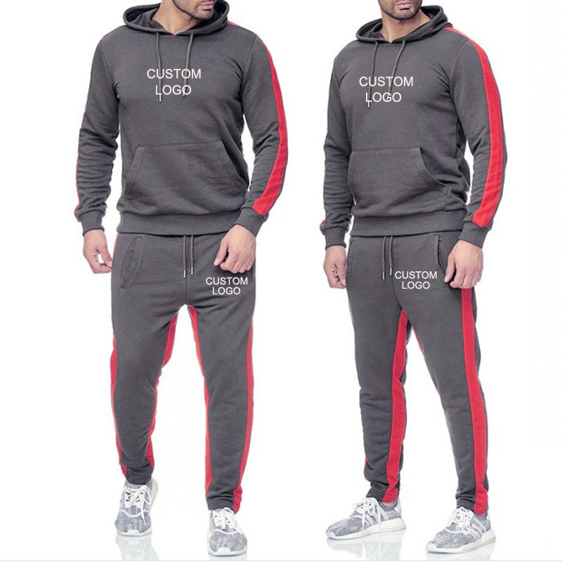 2019 Autumn Winter Men Tracksuit Suits Hoodie Sweatshirt Pants Set Pullover Jogging Trousers Sportswear Custom Your Logo