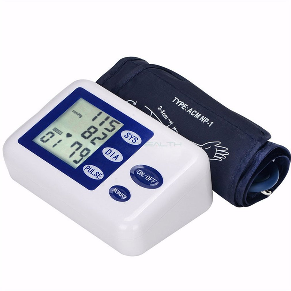 Arm-Blood-Pressure-Monitor Measurement English-Sphygmomanometer Upper-Arm Electronic
