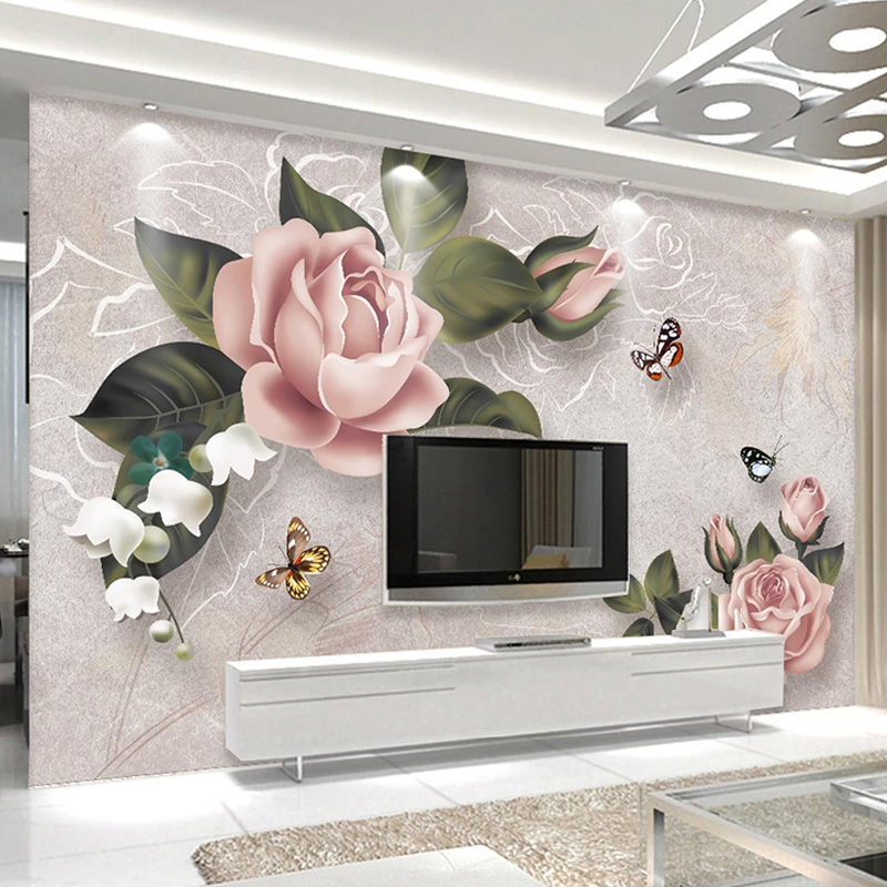 Custom Photo Wallpaper European Style Retro Roses Flowers Murals Living Room TV Sofa Bedroom Romantic Home Decor Wall Papers 3 D