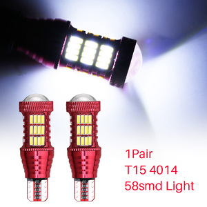 2шт T15 4014-58SMD 7500K 16w СВЕТОДИОДНЫЙ Автомобильный задний фонарь тормозной светильник s 12V авто задний фонарь дневной ходовой сигнальный светильн...