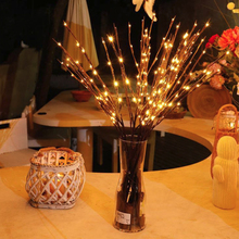 LED Willow Tree Lights Flower Lights 20 Bulbs Vase Lanterns 20 Bulbs Family Party Garden Decoration Home Decoration Christmas