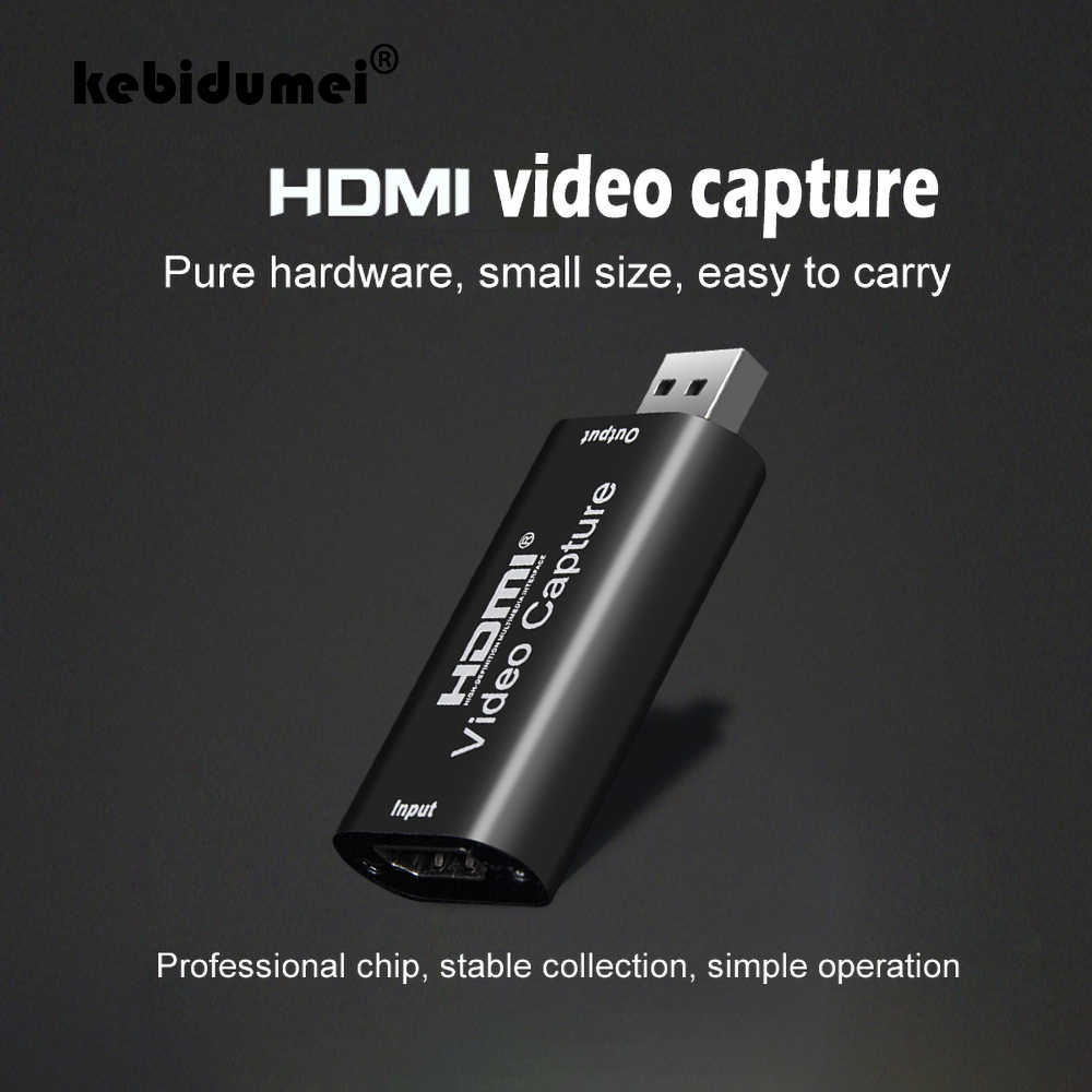 Kebidumei HDMI Video Capture Card USB 2.0 Video Grabber Catatan Kotak untuk PS4 Permainan DVD Camcorder HD Kamera Merekam Live streaming