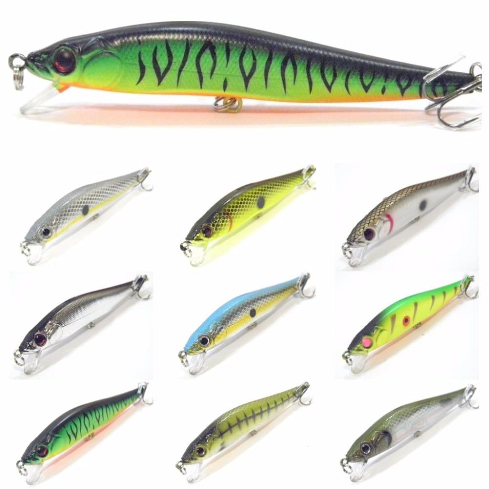 WLure Новая модель 10 см 9,8 г 2 тройные Крючки 3D жесткий глаза вариант Цвета гольян жесткий приманки Вес передачи Дизайн рыбалки приманку M590