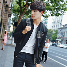 New Bomber Letter Printed Jacket Men Pilot with alphabet designThin Wind Breaker Fashion