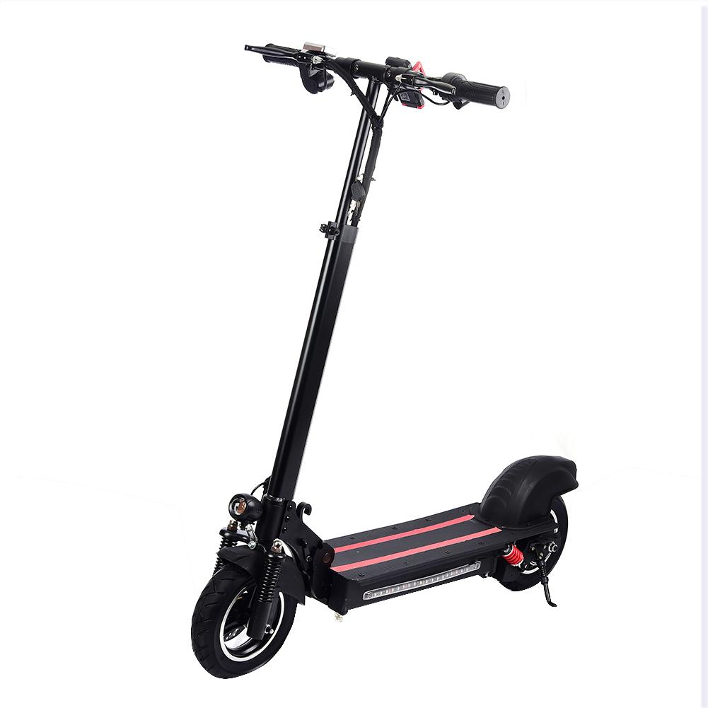 10inch <font><b>Scooter</b></font> 600w Single Drive <font><b>Electric</b></font> <font><b>Scooter</b></font> <font><b>Motor</b></font> 48v Two <font><b>Wheel</b></font> Skateboard Kickboard Black Red Color image
